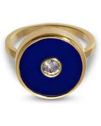 Liz Phillips - Europa Diamond And Lapis Lazuli Ring - Lyst