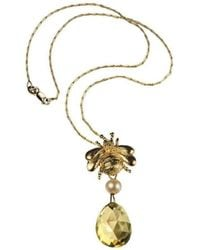 Xanthe Marina - 18kt Yellow Gold Bumblebee Necklace - Lyst