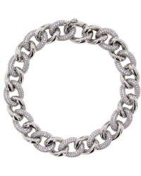 Cosanuova - Essential Pave Link Bracelet - Lyst