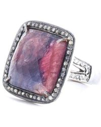 M's Gems by Mamta Valrani - Drop Dead Red Sapphire Ring With Diamonds - Lyst