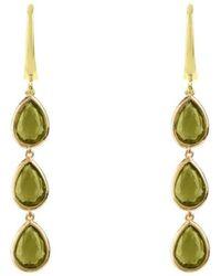 LÁTELITA London - Sorrento Triple Drop Earrings Gold Peridot - Lyst