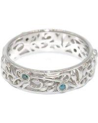 Custom Made By Irina | Blue Diamonds Eternity Ring | Lyst