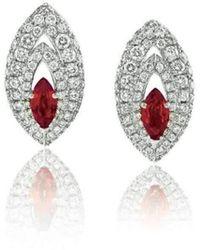 Niquesa Fine Jewellery - Amore Gemma Ruby Earstuds - Lyst