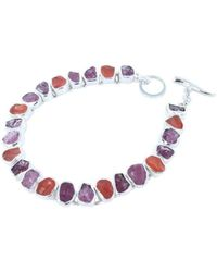 Reeves and Reeves | Rough Tourmaline, Ruby And Carnelian Bracelet | Lyst