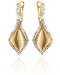 Estenza - Emma Yellow Gold Diamond Earrings - Lyst