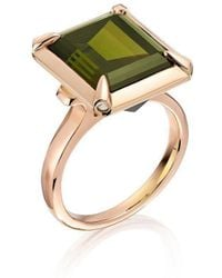 Justin Richardson - Tourmaline And Red Gold Ring - Lyst