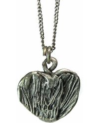 Private Opening - Spring Street Oxidized Sterling Silver Heart Pendant - Lyst