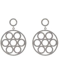 Latelita London 22kt Rose Gold Micro pave Champagne Earrings J5WTJjPmWy