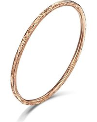 Becky Rowe Rose Gold Beaten Bangle | - Multicolor