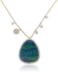 Marmalade Fine Jewellery - 14kt Rose Gold With An Opal Doublet And Diamond Detail - Lyst