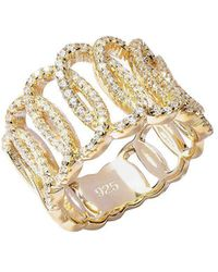 Lustre of London - Yellow Squiggle Ring - Lyst
