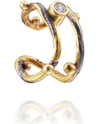 Bergsoe - Gold Seafire Ear Cuff With Champagne Diamond | - Lyst