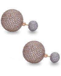 Socheec - Suave Diamond Gold Ball Earring - Lyst