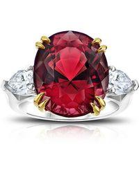 David Gross - Platinum Spinel And Diamond Ring - Lyst