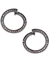 LO COCO AND KUBPART - White Gold Luna Earrings - Lyst