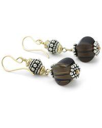 Elisa Ilana Jewelry - Yellow Gold & Smoky Quartz Drop Earrings | - Lyst