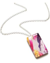 JoJo Blue Design - Pink Ice Necklace - Lyst