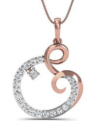 Diamoire Jewels Nature Inspired 10kt Rose Gold Pave Pendant Handset With Premium Diamonds