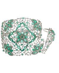 Gaydamak - Emerald Ring And Cuff Bracelet - Lyst