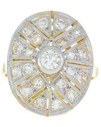 Alexis Danielle Jewelry - Original Art Deco Diamond Platinum 18kt Yellow Gold Ring - Lyst