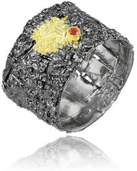 Apostolos Jewellery - Crevise3 Oxidised Silver Ring - Lyst