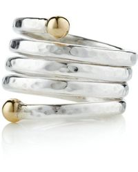 Lavan - Handmade 9kt Gold And Silver Adjustable Ring - Lyst