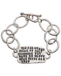 Kate Chell Jewellery - Tab Bracelet - Lyst