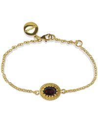 Vintouch Italy - Luccichio Gold Vermeil Garnet Bracelet - Lyst