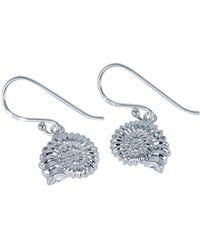Reeves and Reeves - Sterling Silver Ammonite Earrings - Lyst