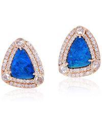 Socheec - Blue Opal Stud Earring - Lyst