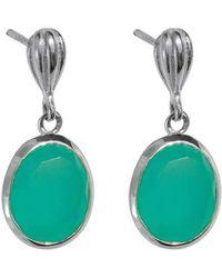 Juvi Designs - Baja Silver Earring With Aqua Chalcedony - Lyst