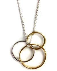 FRAN REGAN JEWELLERY - Pendant 1 Silver Loop, 2 Vermeil Loops On Silver Chain - Lyst