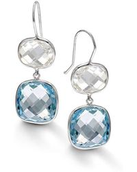 BCOUTURE - White And Blue Topaz Drop Earrings - Lyst