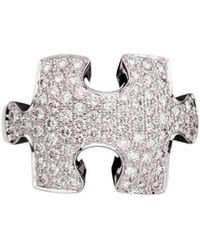 Akillis - Puzzle White Gold With White Diamonds Ring - Lyst