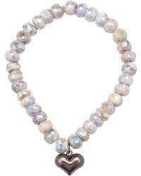 Heather Kenealy Jewelry - Silverite Bracelet With Sterling Silver Heart Charm - Lyst