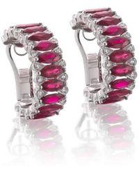 Niquesa Fine Jewellery - Amore Ruby Hoop Earrings - Lyst