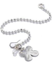 Vicky Davies - Sterling Silver Four Leaf Clover Bracelet - Lyst