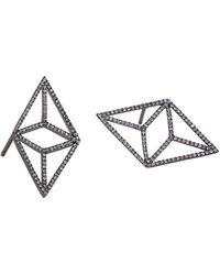Bridget King Jewelry - Diamond Black Kite Earrings - Lyst