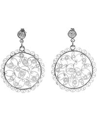 Agora Jewellery - Silver Filigree Melisa Earrings - Lyst