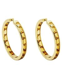 Daou Jewellery - Golden Hoop Earrings - Lyst