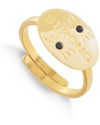 SVP Jewellery - Hero Strong 18kt Gold Vermeil Adjustable Ring - Lyst