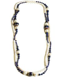 M's Gems by Mamta Valrani | Magnifique Pearl Necklace With Lapiz Lazuli,diamantes And Beads | Lyst