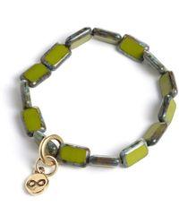 Eva Michele - Avocado Infinity Bracelet - Lyst