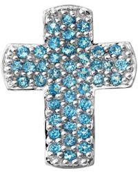Nehita Jewelry - Blue Topaz Cross Necklace - Lyst
