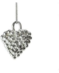 Private Opening - Small Gothic Shiny Sterling Silver Heart Pendant - Lyst