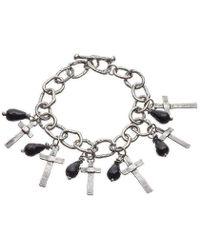Kate Chell Jewellery - Black Treasure Oxidised Bracelet - Lyst