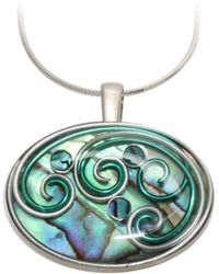 AVA Goldworks - Daylily Abalone Pendant - Lyst