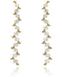 AMMA Jewelry - Gold Growing Diamond Drop Earrings | - Lyst