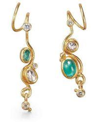 Bergsoe - Emerald Seafire Earrings - Lyst