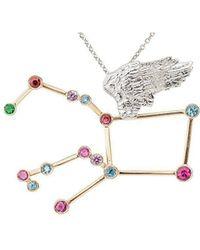Jaime Moreno Designer Jewelry - White & Rose Gold Multi-gemstone Pegaso P Necklace | Jaime Moreno - Lyst